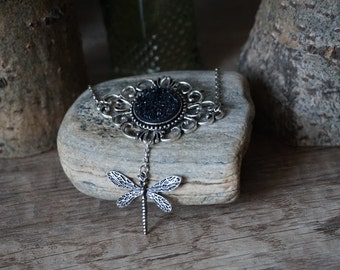 """Necklace """"Black Dragonfly"""""""
