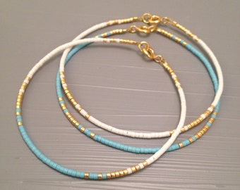 Simple jewelry Simple bracelet Everyday Bracelet Minimalist bracelet Aqua Bracelet