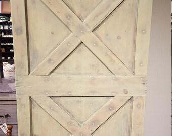 Green Barn Wood Door