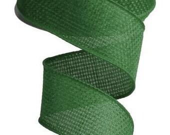 Wired Ribbon - Ribbon - Green Ribbon -  Wreath - Floral Ribbon - RG121106