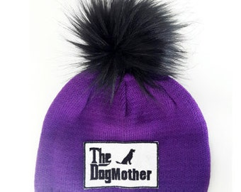 The Dogmother Beanie Hat Purple