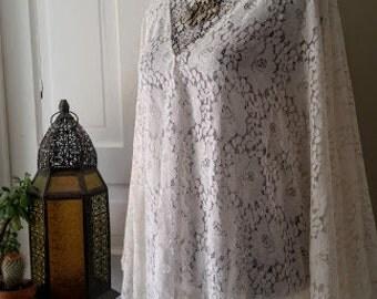 Lace kaftan hippie caftan dress bohemian gypsy festival boho maxi dress angel sleeve 60's dress