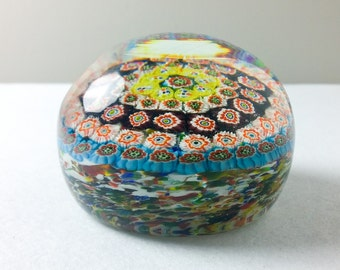 Extremely Large Magnum Weight Millefiori Doorstop Paperweight