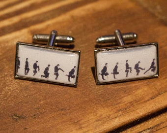 Unique 'Ministry of Silly Walks' Cufflinks - Monty Python/ John Cleese - Ideal gift for him - Wedding Cufflinks - Father of the Bride