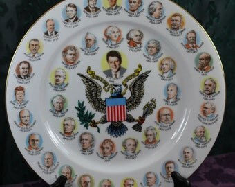 """President Bill Clinton Presidential Collector's Plate 10.25"""""""