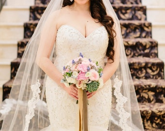 Lace Wedding Veil-Laced to Waist