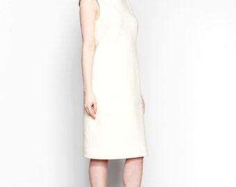 Off-White Wool-Blend Sleeveless Dress // Hioki Dress // Sample Sale + Ready To Ship