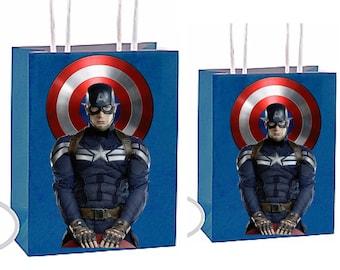 Marvels Captain americia Party Favor Bag Printable Instant Download