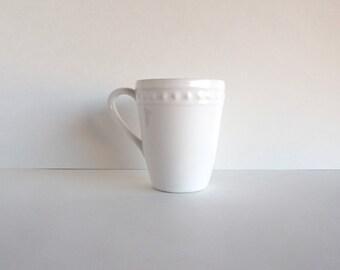 Customizable White Beaded Mug