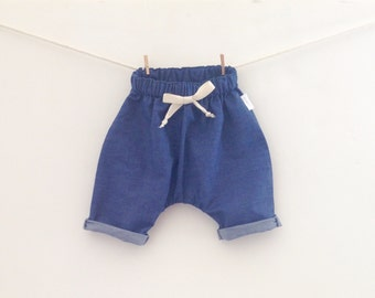 Lightweight Denim Coast Pants, Kids Jeans, Denim slouch pants, Drop Crotch Pants