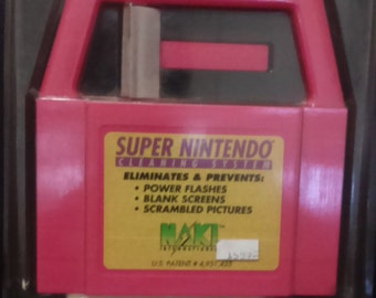 Vintage 1980's Naki SUPER NINTENDO Cleaning Kit.