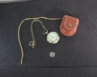Vintage Field Ranger Quartz Pocket Watch with Case