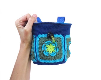 Women's Chalk Bag for Rock Climbing. Large Chalk Bag XL - Crochet
