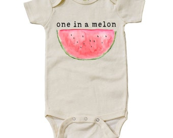 "Organic ""One In A Melon"" Onesie"