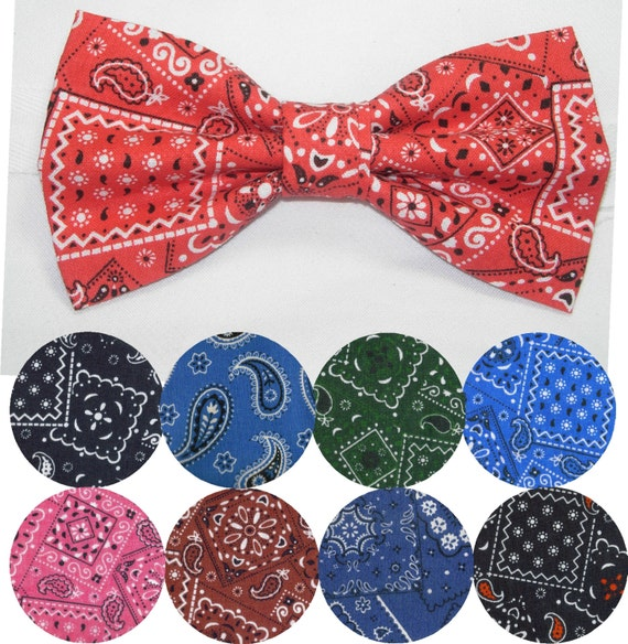 western bandana pre bow tie bandana black bow