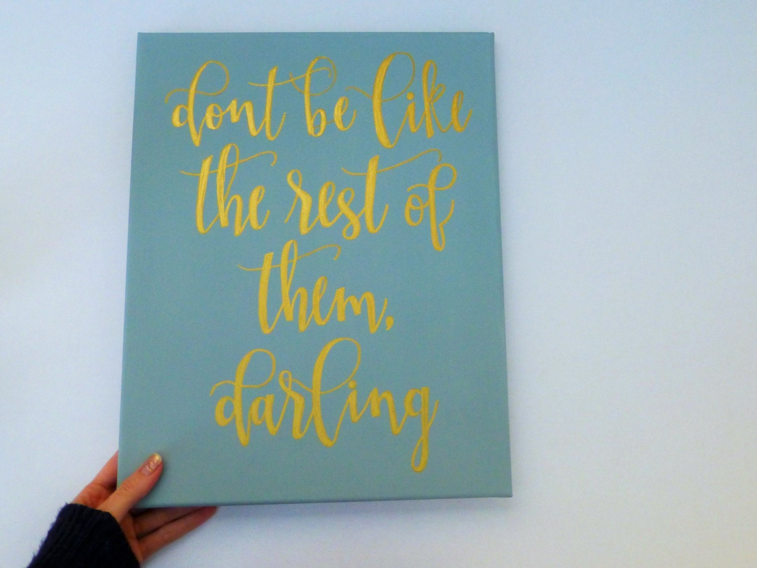 Painted Quote Canvas Home Decor Canvas Wall Art Gold