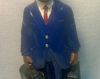 "Handpainted ""Train Conductor"" Figurine"