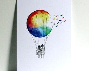 Balloon friends Postcard