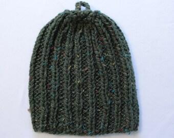 Dark Green Heavy Knitted Hat