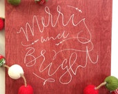 Merry and Bright / Believe Wood Set - Christmas Signs - Christmas Decor - Holiday Decor - Holiday Quotes - Christmas Wood Sign