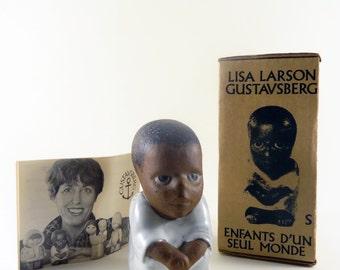 Vintage Lisa Larson SYD Children Of The World With Original Box Gustavsberg Sweden 1974