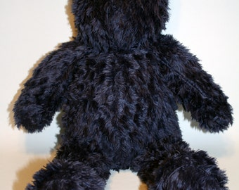 Blue Shaggy Vintage Style Teddy Bear
