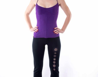 Tank Top Sleeveless T-shirt Soy, Organic Cotton Panel  under Shirt Night Shirt Layering Top Black, Grey, Purple, natural