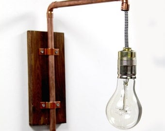 Wall lamp, copper, industrial design