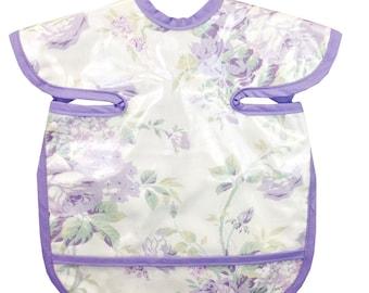 Lavender Roses Apron Bib