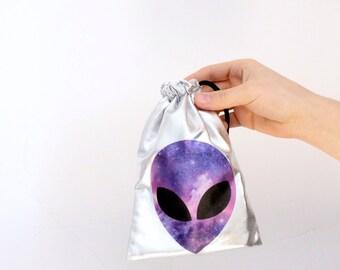 Alien bag silver Galaxy cosmic space