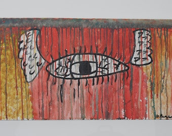 Alado (Winged) - Expressionism, Outsider Art, Original Painting From Brazil