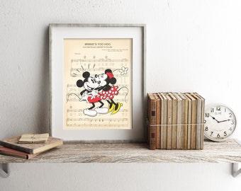 Vintage Mickey and Minnie Sheet Music Art Print