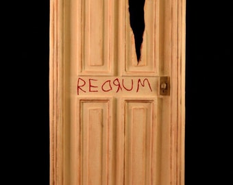 The Shining \ REDRUM\  Door & A Nightmare on Elm St Freddy Krueger Diorama
