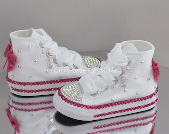 Baby/Toddler/Girls Custom Crystal *Bling* Converse - Double Row Crystals -Many Options Available