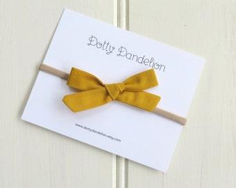Mustard Baby Headband   Mustard Baby Hair Bow, Mustard Yellow Hair Bow, mustard baby headbands, mustard hair bows, mustard baby bow