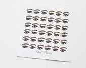 Planner stickers: eyes / eyebrows / eyelashes | Perfect for your filofax / erin condren planner etc