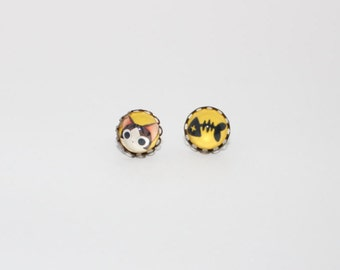 Cat Cabochon Earrings