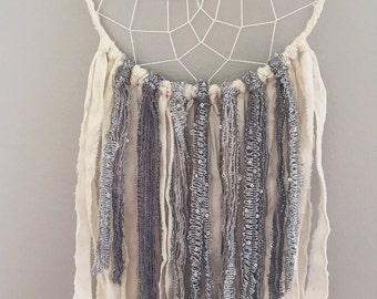 Boho Decor - Bohemian Dreamcatcher - Gypsy Decor - Dream Catcher - Dreamcatcher - Silver Dream Catcher - Boho Dreamcatcher - Boho Chic