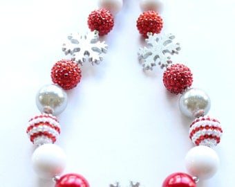 Christmas Bubblegum Necklace
