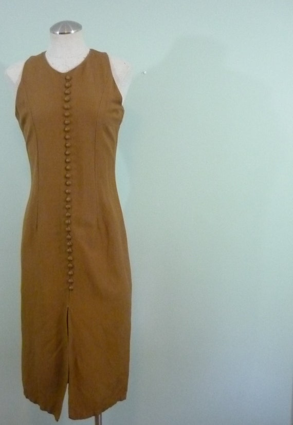 Retro Lightweight Wiggle Dress / 1970s does 1950s Pin Up / Modern Size Small S to Medium M