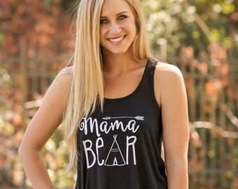 Mama Bear Racerback Flowy Tank Top