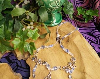 Sky Grove - collana necklace cielo for her sky azzurro blue quarzo quartz edera ivy triskell celtic fantasy wicca