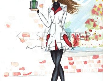Fashion Illustration- Window Shopping