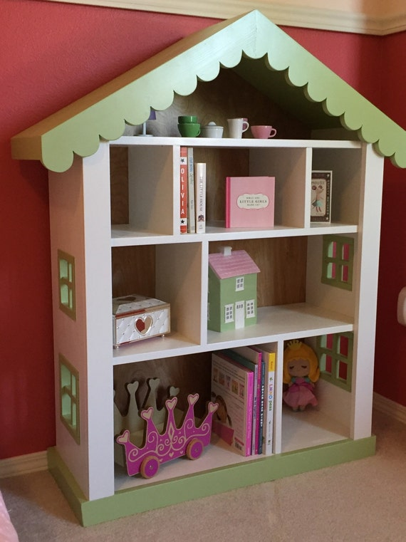 kids girls bookshelf bookcase fantasy cottage