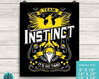 Team Instinct Go Video Game Inspired Design Museum Quality Premium Poster Gaming Art Print Matte Finish All Sizes
