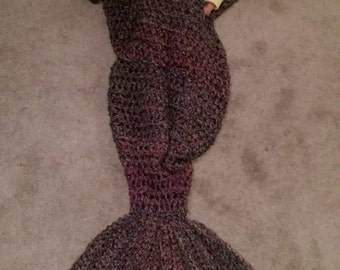 Mermaid Tail Afghan/Blanket - Adult Size