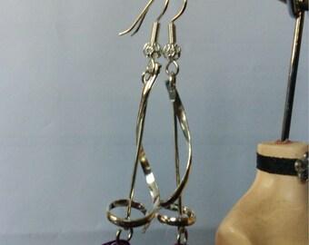 Earrings violet balls