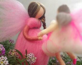 GIROTONDO fairy in carded wool gift idea