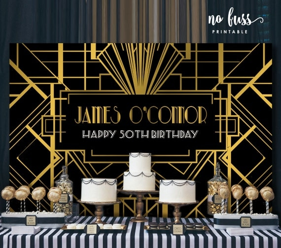 Great Gatsby Backdrop Adults Party Banner Poster Signage