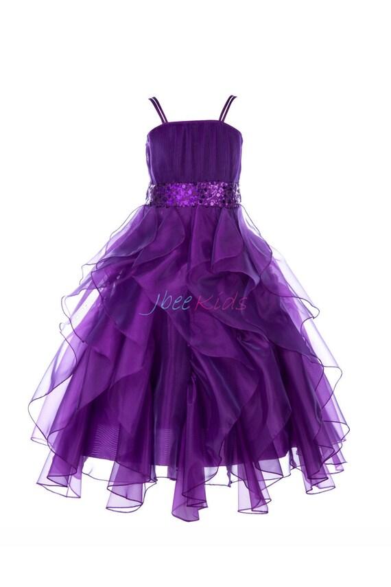 purple flower girl dress sequined dresses royal blue by